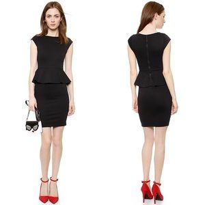Alice + Olivia Employed Victoria Peplum Mini Dress